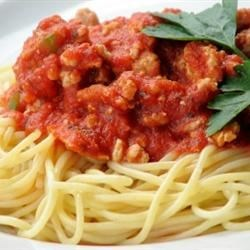 Frank's Famous Spaghetti Sauce Recipe - Years of experimenting with many recipes has yielded this recipe that is thick and meaty, yet easy and quick to prepare.