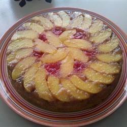 My First Peach Upsidedown cake