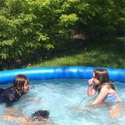 my kids swimming