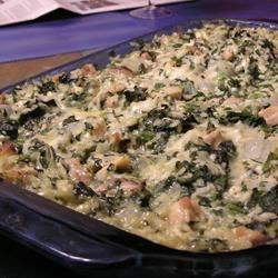 Chicken Florentine Rice Casserole Recipe - This chicken, rice, and spinach casserole is packed with flavor!