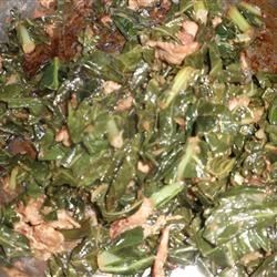 Brazilian Collards Recipe - Spicy, tangy collard greens accented with black pepper bacon, cayenne pepper and vinegar are a big deal in Brazil.  Here is my recipe.  Since bacon fat is an essential part of this recipe don't drain it during any of the steps!  I say that if your veggies are fattening then eat a lighter main dish!