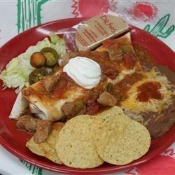 Pork Chili Verde Burrito Dinner