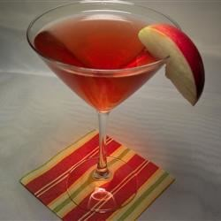 Big Apple Martini Recipe - A vodka martini with apple jack and Calvados. As cosmopolitan as the Big Apple itself.