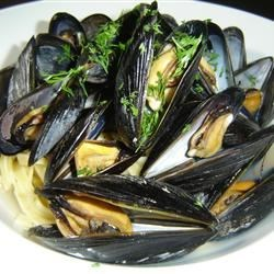 Steamed Mussels II Recipe - Fresh mussels steamed in butter, shallots and white wine.