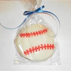 baseball sugar cookie