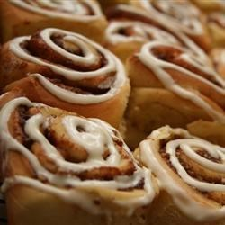 Cinnamon Rolls III Recipe - Here's an easy alternative to buying those famous cinnamon rolls in the mall. They taste exactly the same, and the dough is made in the bread machine.