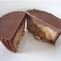 Homemade Peanut Butter Cups Recipe - Just like the candy!  You'll need 30 mini (1 3/4 by 1 1/4 inch) paper cups for filling.