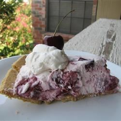 Mom's French Cherry Cream Pie Recipe - This quick and easy no-bake recipe is similar to cherry cheesecake.