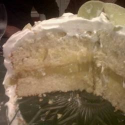 Key Lime Cake I Recipe - Key limes give flavor and a tangy twist to this delicious, buttery glazed-cake recipe.