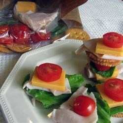 Homemade Lunch Combination Recipe - Crackers, deli turkey, and cheese are packed and ready to be assembled during lunch.