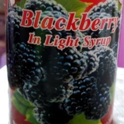 Canned Blackberries in Light Syrup