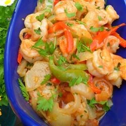 Camarones al Ajillo (Garlic Shrimp) Recipe - Large shrimp are cooked with ten cloves of garlic in this fragrant dish.