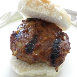 Pam's Summertime Sweet Burgers Recipe - Celebrate sweet summertime with a grilled burger, sweetened with brown sugar barbecue sauce and seasoned with onion soup mix.