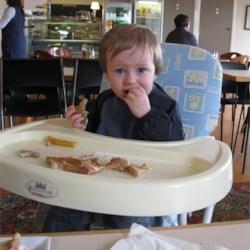 Lucas eating