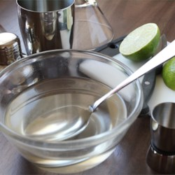 Simple Syrup Recipe and Video - Simple syrup is 1 part sugar to 1 part water. A staple in any beverage maker's repertoire.