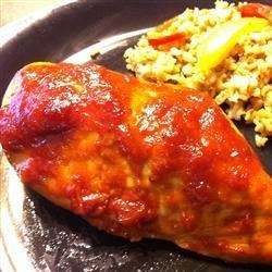 Michael's Chicken Recipe - A spicy, tangy sauce really livens up tender, baked chicken thighs!