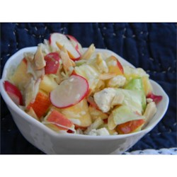 Blue Moon Salad Recipe - Once in a blue moon, we like to make this delicious salad.  The combination of fruit, cabbage, and blue cheese make this salad a satisfying and memorable one.