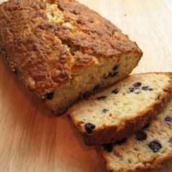 Favorite Banana Blueberry Quick Bread Recipe - This is so good and reminds me of a real moist kind of a sweet quick bread.  Everybody asks for the recipe: this bread is moist, and easy to make too.  Note: If you are using frozen blueberries, you can thaw them in the microwave for about 3 minutes.  However, you need to increase the amount of blueberries to 3/4 cup.