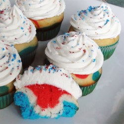 Sweetheart Cupcakes Recipe and Video - Use food coloring to make festive layered cupcakes for Valentine's Day or any occasion.