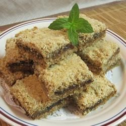 First Place Apricot-Date Bars