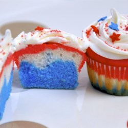 Inside of the Patriotic Cupcakes