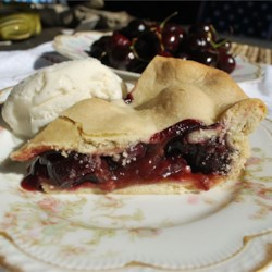 Sweet Washington Cherry Pie  Recipe - Make this richly flavored sweet cherry pie when the fresh cherries from eastern Washington are in season.