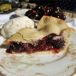 Sweet Washington Cherry Pie  Recipe - Make this richly flavored sweet cherry pie when the fresh cherries from eastern Washington are in season.