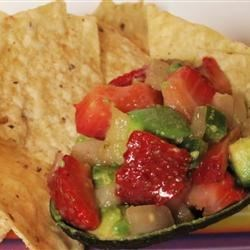 Butch's Strawberry Avocado Salsa Recipe - Make a bowl of this strawberry and avocado salsa, flavored with cilantro, lime juice, and jalapeno pepper, and wake up your taste buds.