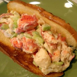 Lobster Salad Recipe - This luscious and easy to prepare salad features succulent lobster tossed with yellow bell peppers, crunchy celery and spicy onions all in a creamy base.