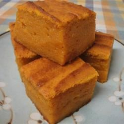 Pumpkin Mochi Recipe - This twist on a traditional Japanese treat is made with canned pumpkin and glutinous rice flour.