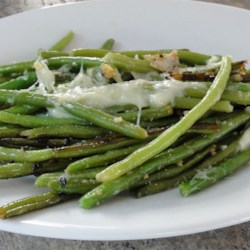 Garlic Wine String Beans Recipe - Extremely tasty side dish and a great way to get people to eat their beans! This recipe is so flexible. I've seen others add garlic powder, and some add the cooking wine to the cheese while microwaving, using less white wine.