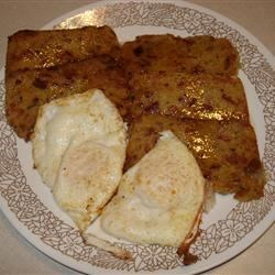 Scrapple (Mush) Recipe - Scrapple or mush has been a hearty breakfast staple in our family for generations. Heavily flavored with herbs, spices, onions and meat, it is a meal unto itself.