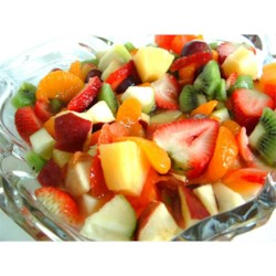 Summer Fruit Salad Recipe - A big bowl of mixed fruit in sparkling colors tempts the appetite even when it's hot outside.
