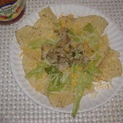 Lime Chicken Nachos (variation)