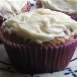 Low Fat Carrot Cupcakes and Cream Cheese Icing