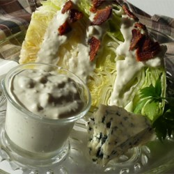 Alaine's Blue Cheese Dressing Recipe - Everyone loves cool blue cheese dressing on a crisp summer salad!