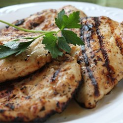Marinated Grilled Chicken II Recipe - Italian salad dressing does wonders for chicken breasts, especially if they are left to marinate for several hours in the fridge. Then just before grilling, each breast gets a sprinkling of lemon pepper.