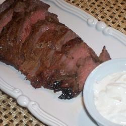 Marinated Flank Steak with Horseradish Sauce