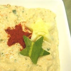 Cucumber Hummus Recipe - This light and refreshing appetizer is perfect served with crisp veggies and warm pita bread.