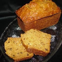Pumpkin Cheese Bread I Recipe - Cream cheese in this nutty pumpkin bread gives it a smooth tang and sets it apart from the crowd.  Two loaves mean there is more to go around.