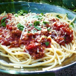 World's Best Pasta Sauce! Recipe and Video - This meaty tomato sauce is great on your favorite pasta dish!
