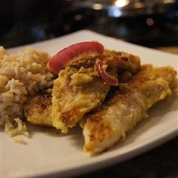 Chicken in Onion and Mustard Sauce