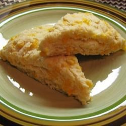 Easy Cheese and Garlic Scones Recipe - This is my favorite, very simple, recipe for savory scones.  They are wonderful served hot, spread with a little butter, and eaten alongside a steamy hot soup. It's important not to over handle these scones, as they will be heavy and tough.