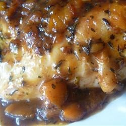 Apricot Chicken Provencal Recipe - Herbes de Provence, garlic, and apricots flavor chicken drumsticks in this French-inspired recipe.