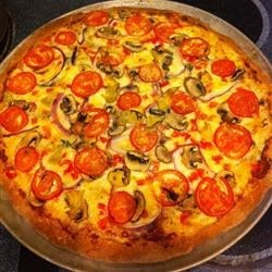 Pizza made with whole wheat flour