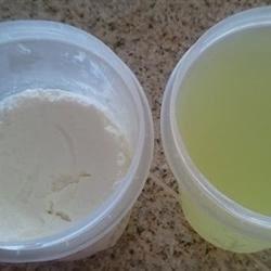 Homemade Yogurt & Whey - top view