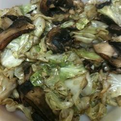 Cabbage with Portobello Mushrooms