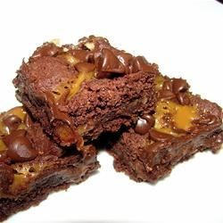 Caramel Brownies Recipe - This is a very easy recipe and very popular.  The recipe came from a neighbor who brought it to our annual 4th of July picnic.