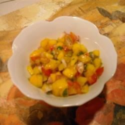 Easy Mango Salsa Recipe - This very tasty and simple mango salsa uses both lime juice and orange juice.
