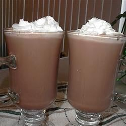Chocoholic's Nightcap Recipe - A steaming cup of cocoa - with a shot of Irish Cream. Sweet dreams!